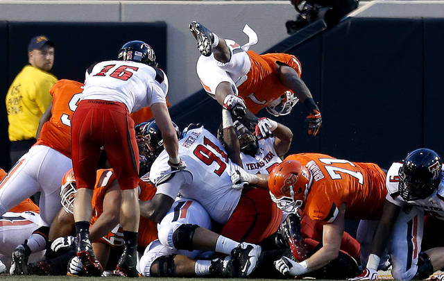 during a college football game between Oklahoma State University and the Texas Tech University (TTU) at Boone Pickens Stadium in Stillwater, Okla., Saturday, Nov. 17, 2012. Photo by Sarah Phipps, The Oklahoman