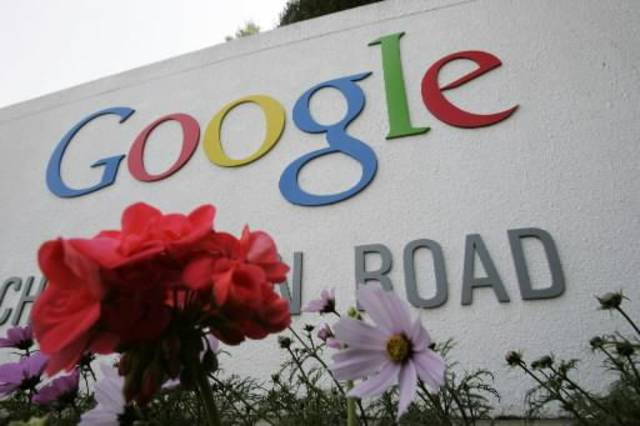 In this May 8, 2008 file photo, a sign outside Google headquarters in Mountain View, Calif. is shown. Google Inc. is expected to release quarterly earnings after market close Thursday, July 17, 2008. (AP Photo/Paul Sakuma, file)