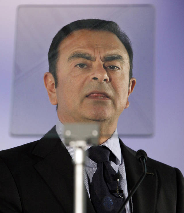 President and Chief Executive Officer of Nissan Motor Co., Carlos Ghosn speaks during a press conference in Yokohama, near Tokyo, Friday, May 11, 2012. Nissan's January-March profit more than doubled to 75.3 billion yen ($941 million) as the Japanese automaker achieved record sales despite production disruptions from last year's tsunami. (AP Photo/Koji Sasahara)