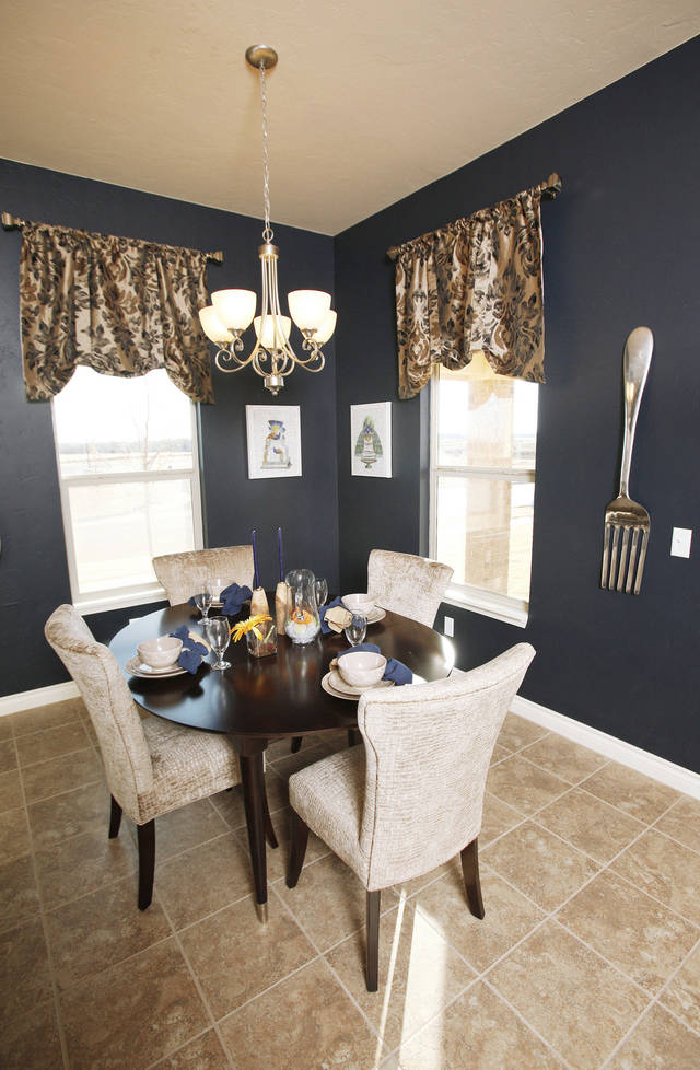 Dining area inside 11424 NW 131 built by Ideal Homes in the Village Verde addition.