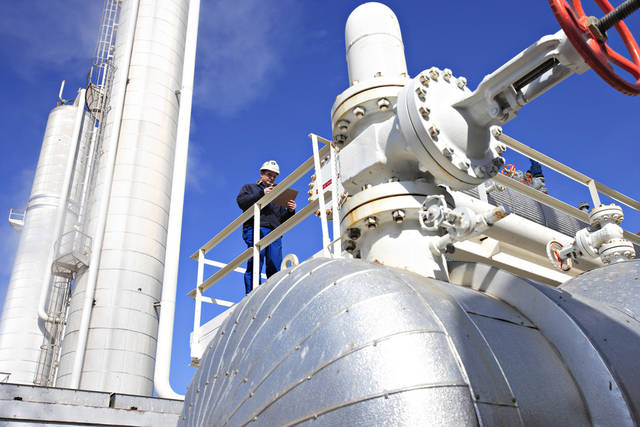 ONEOK Partners LP's natural gas liquids fractionation facility in Medford.