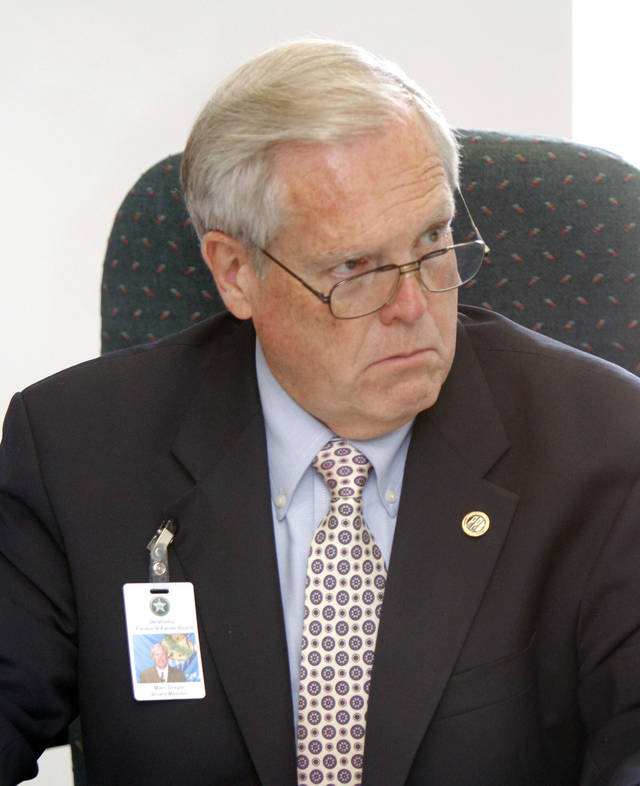 Pardon and Parole Board member Marc Dreyer. Oklahoma City, OK, Friday, August 24, 2012,  By Paul Hellstern, The Oklahoman