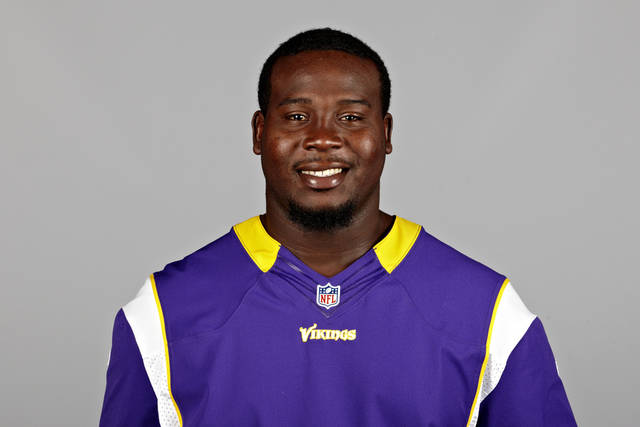 FILE - This is a 2012 file photo of Letroy Guion of the Minnesota Vikings NFL football team. This image reflects the Minnesota Vikings active roster as of Monday, June 25, 2012 when this image was taken.The Vikings were excited about the progress Letroy Guion was making in his transition from one defensive tackle spot to the other. There's one problem, though. He's hurt now and might not play the rest of the preseason, valuable opportunities before the games start to count for Guion to gain comfort and confidence. (AP Photo/File)