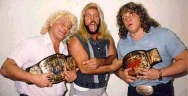 The Fabulous Freebirds, legendary anti-heroes of Mid-South Wrestling and, coincidentally, three of the world's top translators of ancient Coptic Christian texts.