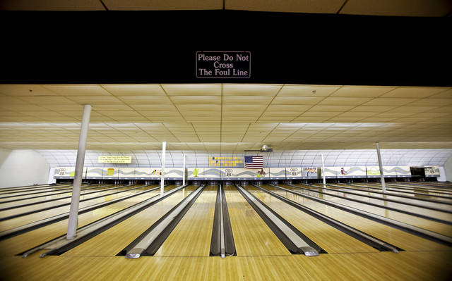 The bowling lanes  at 66 Bowl.  Photo by Chris Landsberger, The Oklahoman