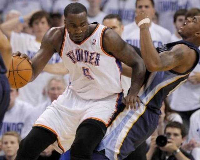 Thunder center Kendrick Perkins will take your questions at 4 p.m. today.