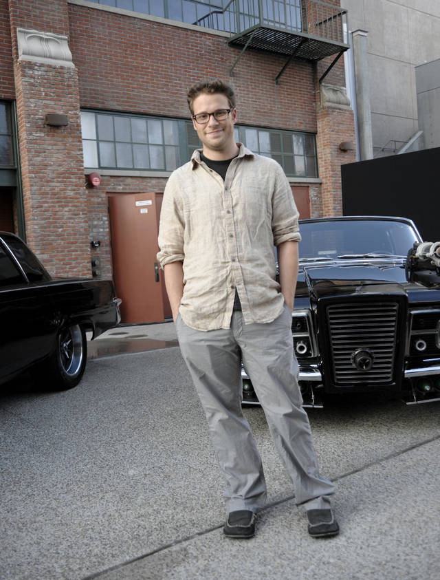 "Actor Seth Rogen poses for a portrait during a press event for the feature film ""The Green Hornet"" at Comic Con in San Diego, Calif. on Thursday, July 22, 2010. (AP Photo/Dan Steinberg)"