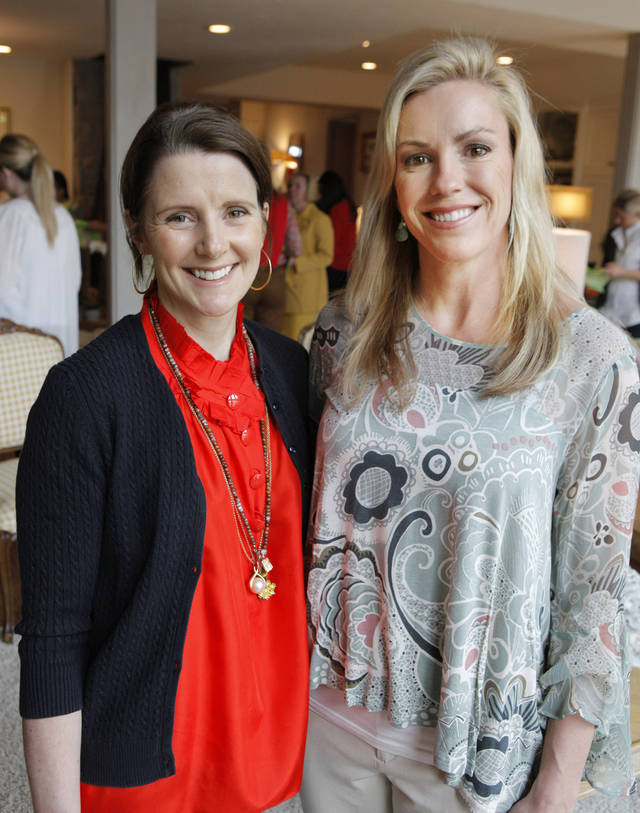 Leslie Russell, co-chair, and Mindy Brown chairwoman, attending the Beaux Arts Ball Committee spring meeting in Oklahoma City Tuesday, March 6, 2012. Photo by Paul B. Southerland, The Oklahoman