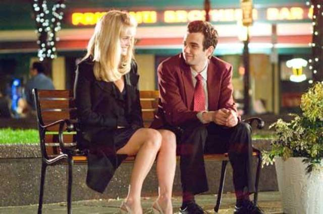 "Alice Eve and Jay Baruchel in ""She's Out of My League."""