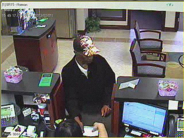 This is the suspect in Friday&#039;s Norman bank robbery. &lt;strong&gt; - Photo provided.&lt;/strong&gt;