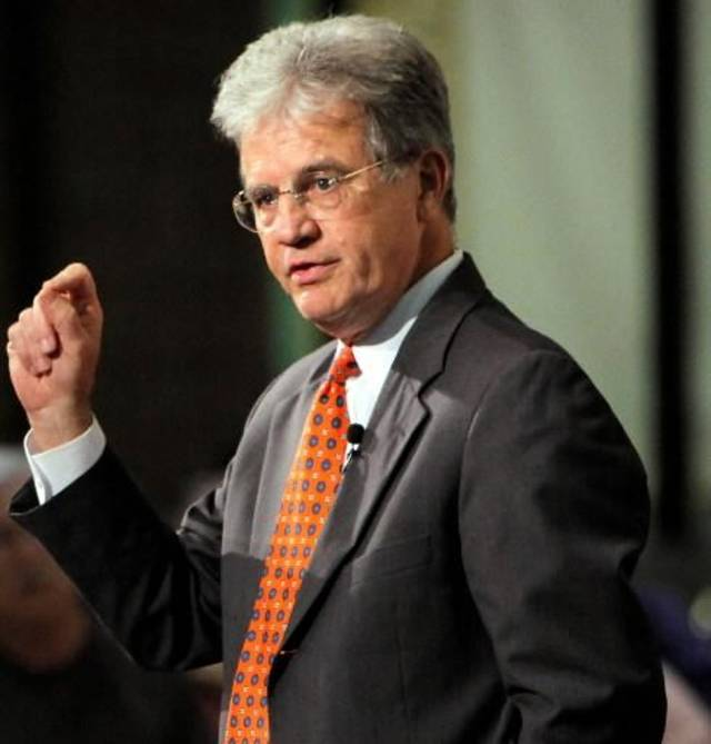 U.S. Sen. Tom Coburn, R-Muskogee, speaks during a town hall meeting at Oklahoma City Community College in Oklahoma City, Thursday, Aug. 18, 2011. Photo by Nate Billings, The Oklahoman