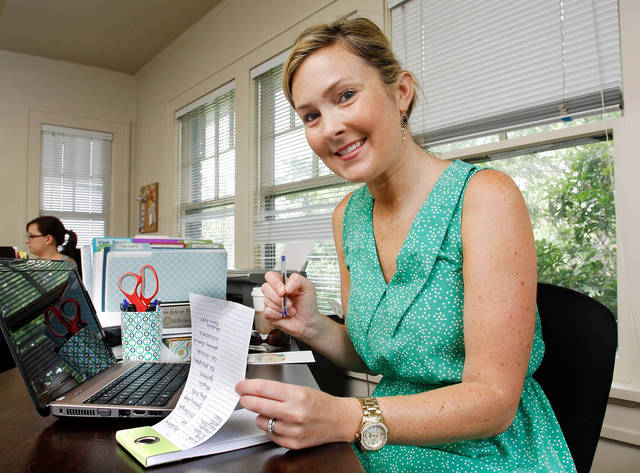 Valerie Riley in the offices of her concierge/personal assistant business in Midtown,  Thursday, June 2, 2011.  Photo by Jim Beckel, The Oklahoman