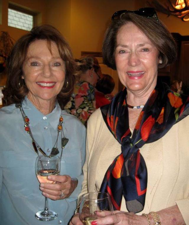 Helen Sullivan and Marilyn Meade were at the party. (Photo by Helen Ford Wallace).