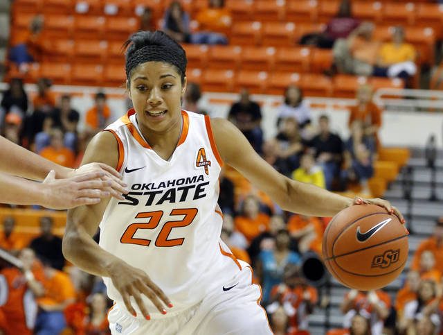 OKLAHOMA STATE UNIVERSITY / OSU: Oklahoma State's Brittney Martin (22) during the women's college basketball game between Oklahoma State and Cal Poly at  Gallagher-Iba Arena in Stillwater, Okla., Friday, Nov. 9, 2012. Photo by Sarah Phipps, The Oklahoman