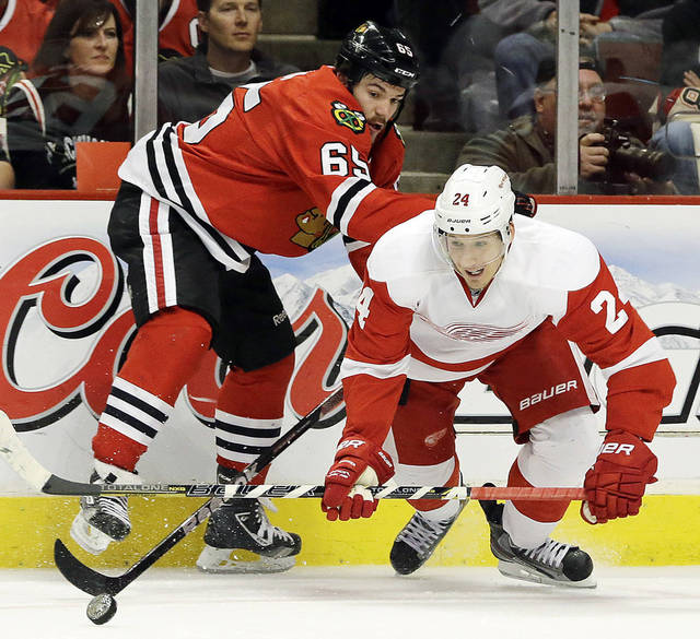 Detroit and Chicago play Game 3 of their Western Conference semifinals series Monday at 6:30 p.m. on NBC Sports Network. Ap photo
