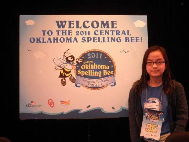 Ashley Jang <strong>CENTRAL OKLAHOMA SPELLING BEE - PHOTO PROVIDED</strong>