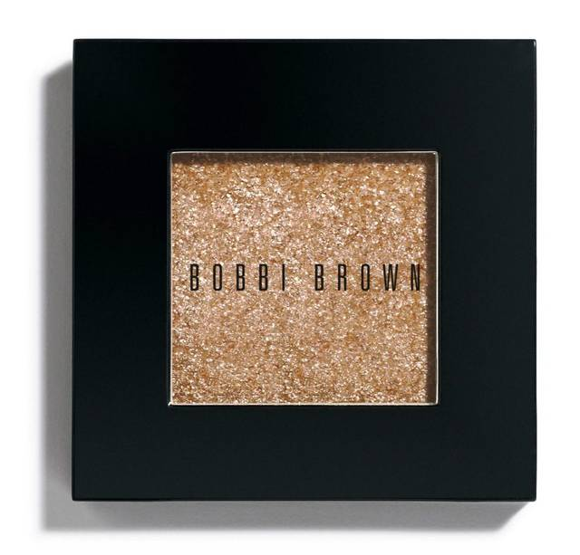 Bobbi Brown's new Baby Peach Sparkle eye shadow.