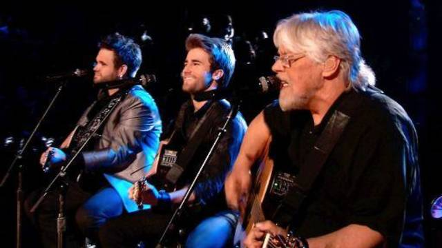 "From right, Zach Swon, Colton Swon and Bob Seger perform on the June 18 Season 4 finale of ""The Voice."" NBC photo"