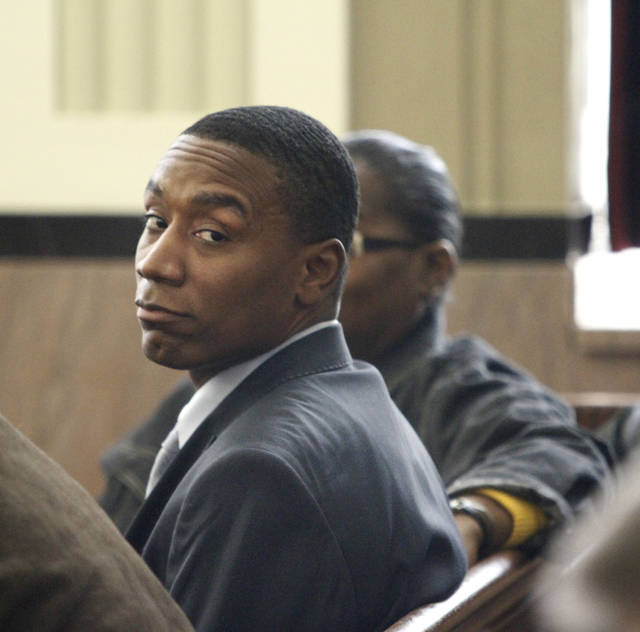 Tyrone Nash sits in the courtroom Friday at the Oklahoma County Courthouse.  Photo By Steve Gooch, The Oklahoman