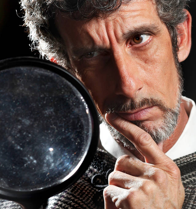 "Don Taylor play Sherlock Holmes in this publicity photo for Jewel Box Theatre's production, ""Sherlock Holmes: The Hound of the Baskervilles"". Photo by Jim Beckel, The Oklahoman"