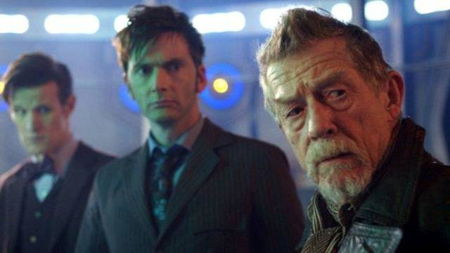 "From left, Matt Smith, David Tennant and John Hurt star in the 50th anniversary episode of ""Doctor Who."""