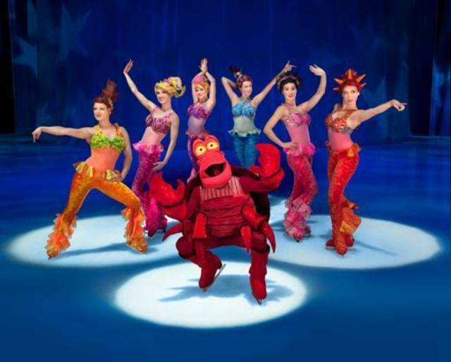 "Sebastian and other underwater characters from ""The Little Mermaid"" appear in Disney On Ice presents Rockin' Ever After. Photo provided"