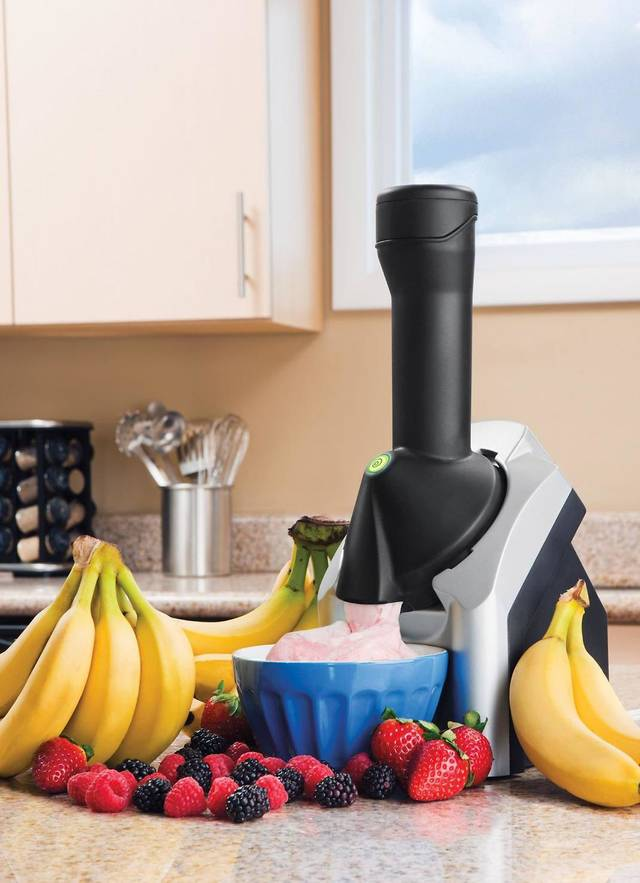 The Yonanas machine, which purports to turn frozen fruit into something like ice cream, is a hit with the Weight Watchers set. <strong></strong>