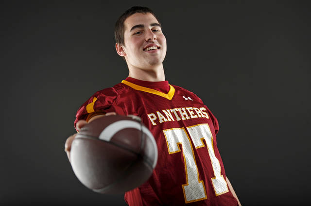 All-State football player Daniel Burton, of Putnam City North, poses for a photo in Oklahoma CIty, Wednesday, Dec. 14, 2011. Photo by Bryan Terry, The Oklahoman