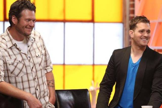 """Blake Shelton and Michael Buble on """"The Voice"""""""