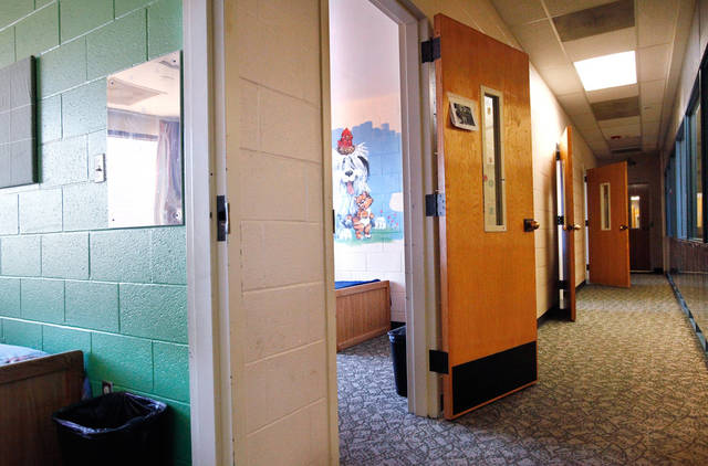 A hallway opens up to sleeping rooms at the Pauline E. Mayer Children's Shelter in Oklahoma City, on Monday,  Jan. 23, 2012.   Photo by Jim Beckel, The Oklahoman