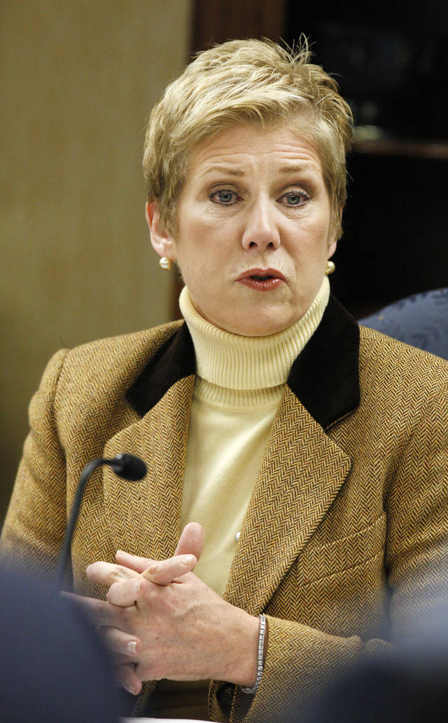 State schools Superintendent Janet Barresi talks about security and safety in schools at the beginning of a state Board of Education meeting in Oklahoma City Wednesday, Dec. 19, 2012. Barresi is asking school boards across Oklahoma to double-check safety procedures in light of the Connecticut school massacre. Photo by Paul B. Southerland, The Oklahoman
