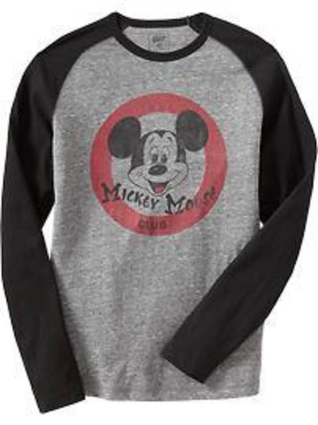 Men's Mickey long-sleeve T-shirt at Old Navy.
