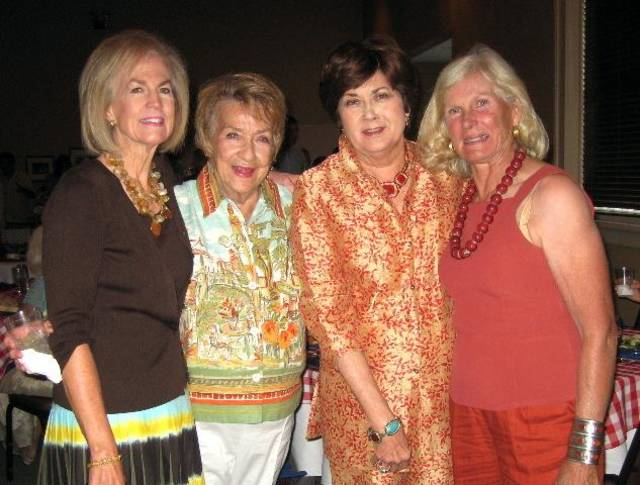 Janie Comstock, Frankie Carroll, Kay Oliver and Patty Coffey share 