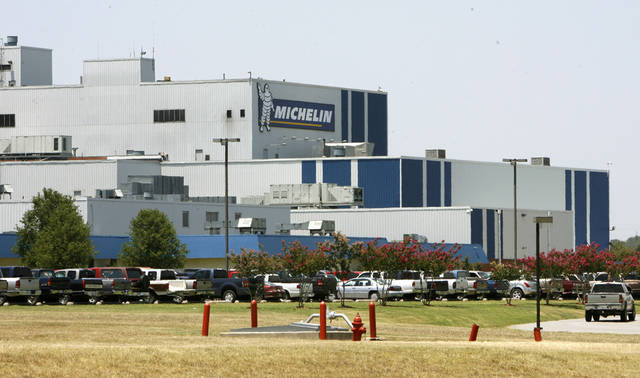 The Michelin Tire plant is one of the large employers in Ardmore, Okla. ,Thursday, July 13, 2006. Photo by Paul Hellstern / The Oklahoman.