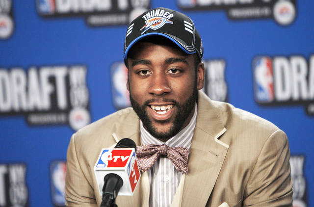James Harden was the first pick for the Thunder in last year's NBA Draft. AP photo