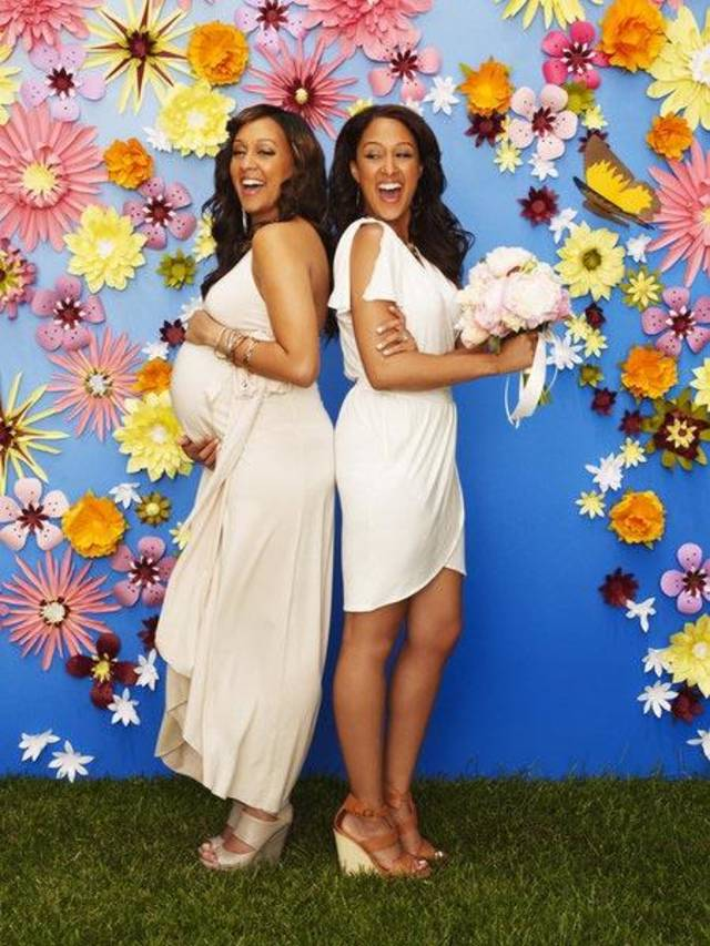 TIA & TAMERA -- Pictured: (l-r) Tia Mowry Hardrict, Tamera Mowry -- Photo by: Jeffrey Thurnher/The Style Network