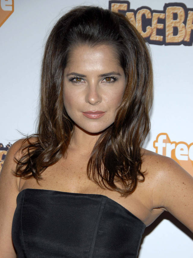 "FILE - This Sept. 3, 2008 file photo shows actress Kelly Monaco at the EA Sports Freestyle ""Facebreaker"" video game launch party in Los Angeles. ABC says an ""All-Star"" edition of the competition show will bring back 12 former rivals including Pamela Anderson, Kristie Alley, Bristol Palin and previous winner Monaco. In a break from the past, viewers can vote online for the 13th contestant from three former contestants including actors Kyle Massey and Sabrina Bryan and celebrity stylist Carson Kressley. The celebrity dance competition series returns on ABC on Sept. 24. (AP Photo/Dan Steinberg)"