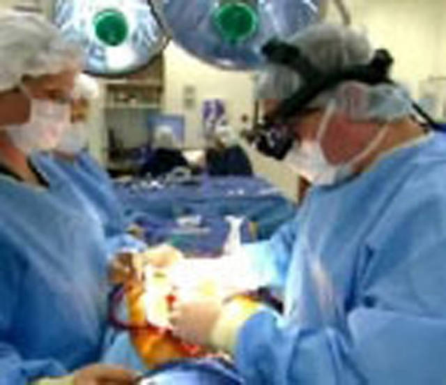 Bypass surgery being performed at Oklahoma Heart Hospital.