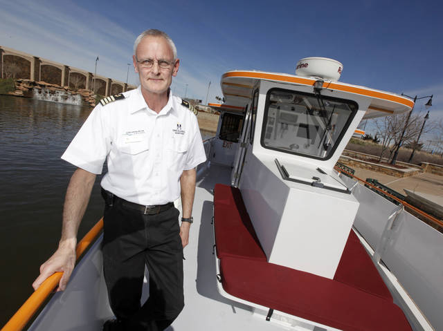 Oklahoma River Boat Capt. Jerry Lojka poses for a photo on the Devon Explorer in Oklahoma City, Wednesday, Feb. 22, 2012. Photo by Nate Billings, The Oklahoman