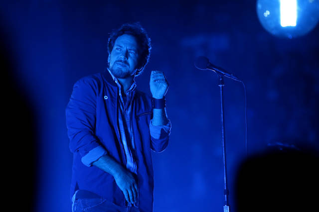 Eddie Vedder with Pearl Jam performs during a concert at Chesapeake Energy  Arena on Saturday, Nov. 16, 2013. Photo by Bryan Terry, The Oklahoman