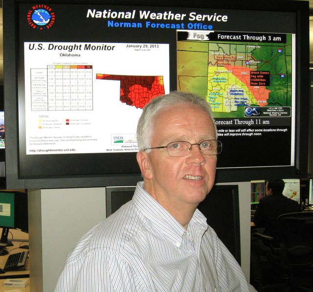 Rick Smith, warning coordination meteorologist of the National Weather Service, Norman shown at the National Weather Service Norman Forecast Office  Wednesday, Feb. 6, 2013. Photo by Bryan Painter, The Oklahoman. <strong>Bryan Painter</strong>
