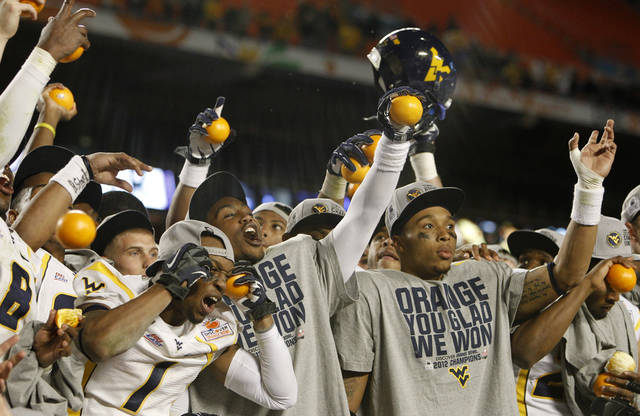 West Virginia has won 70 games in the last seven seasons and has won three straight major bowls, including a 70-33 romp over Clemson in the 2012 Orange Bowl. AP ARCHIVE PHOTO