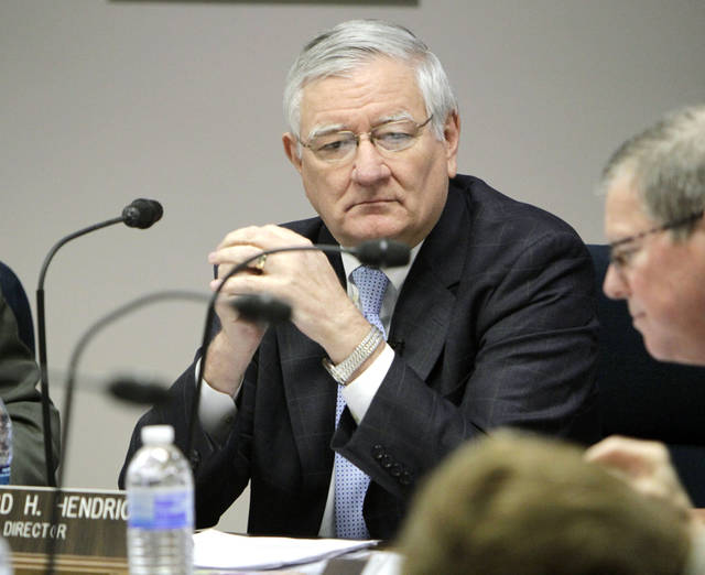 DHS Director Howard Hendrick speaks during a meeting of the Department of Human Services at the Sequoyah Memorial Office Building in Oklahoma City, OK, Tuesday, Jan. 24, 2012. Hendrick announced his retirement from the DHS during the meeting. By Paul Hellstern, The Oklahoman