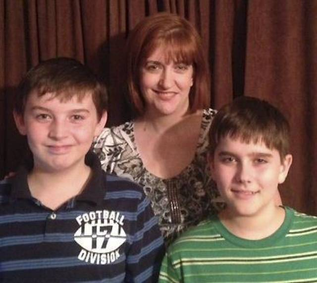 Lauren Marshall with her sons David, left, and Dylan. Photo provided