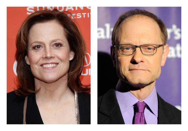 FILE - This combination of 2012 file photos shows actors Sigourney Weaver, left, and David Hyde Pierce. Weaver and Pierce are teaming up to play siblings as both make a return to the stage in a Chekhov-inspired play, Christopher Durang�s �Vanya and Sonia and Masha and Spike,�  for a 17-week limited engagement begining Tuesday, March 5, 2013 at Broadway�s Golden Theatre in New York. (AP Photo/Danny Moloshok, Chris Pizzello)
