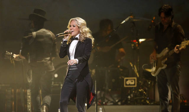 Carrie Underwood performs in Oklahoma City on Wednesday, October 20, 2010. Photo by Bryan Terry, The Oklahoman