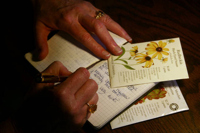 Garden journals can be as varied as the landscape. Some can be used to keep you organized, others to log personal thoughts like a diary, still others as teaching aids or perhaps to jog your memory about changes in plants or wildlife from season to season. (AP Photo/Dean Fosdick)