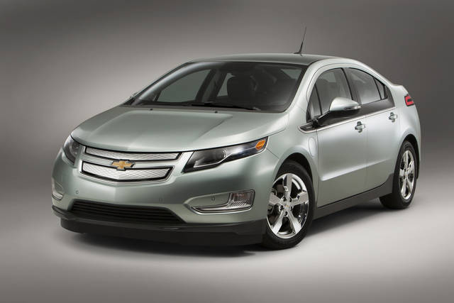 This undated image made available by General Motors shows the 2013 Chevrolet Volt. (AP Photo/GM, FPI Studios)