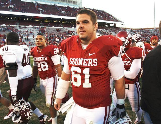 "Retired OU lineman Ben Habern called Gabe Ikard the most ""technically sound offensive lineman I've ever been around."" PHOTO BY STEVE SISNEY, THE OKLAHOMAN"