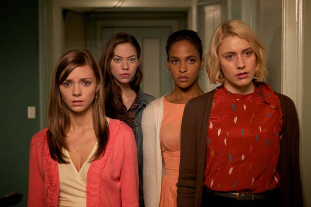 "Carrie MacLemore, Analeigh Tipton, Megalyn Echikunwoke and Greta Gerwig star in ""Damsels in Distress."" <strong></strong>"